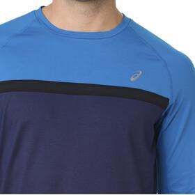 asics Thermopolis Plus LS Shirt Men Peacoat/Race Blue